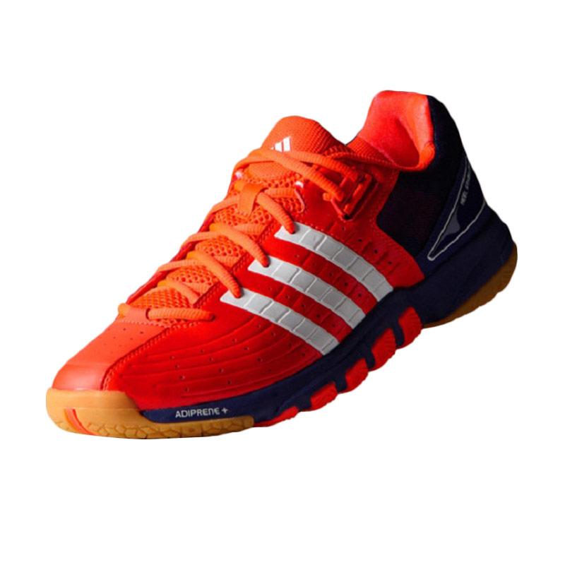 adidas Quickforce 7 Orange Blue Sepatu Badminton