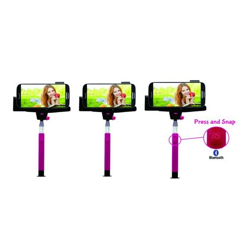 Aldo Pink Wireless Bluetooth Monopod [Paket 3 Pcs]