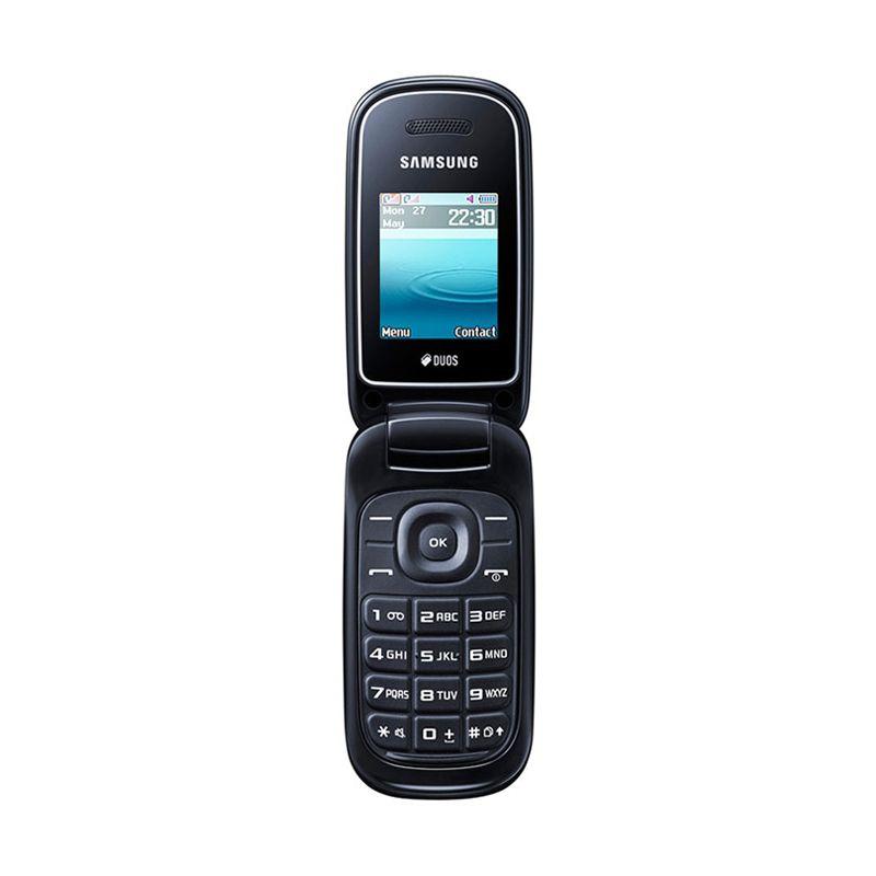 Samsung Caramel GT-E1272 Hitam Handphone [Dual SIM]