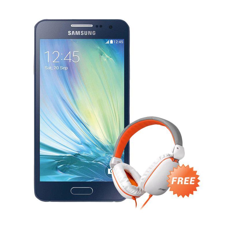 Samsung Galaxy A3 SM-A300H Hitam Smartphone [16 GB] + Headphone