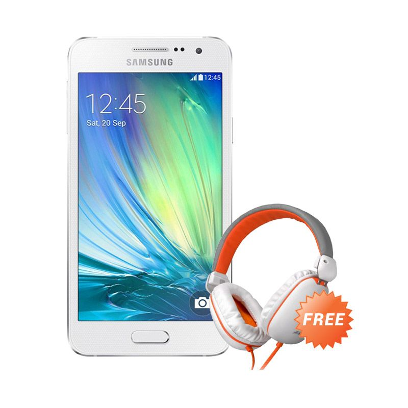 Samsung Galaxy A3 SM-A300H Putih Smartphone [16 GB] + Headphone