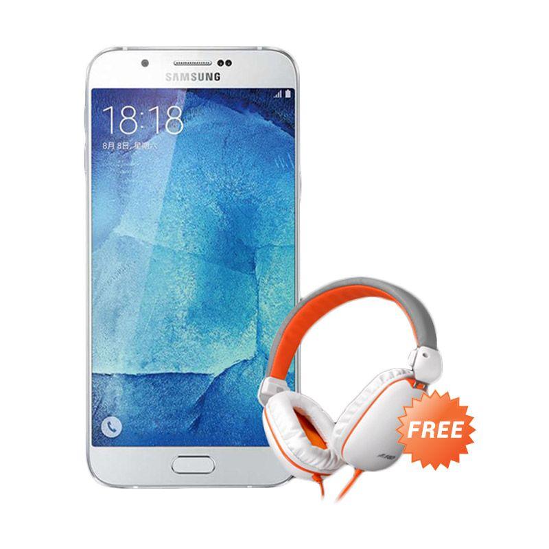 Samsung Galaxy A8 SM-A800 Putih Smartphone [32 GB] + Headphone