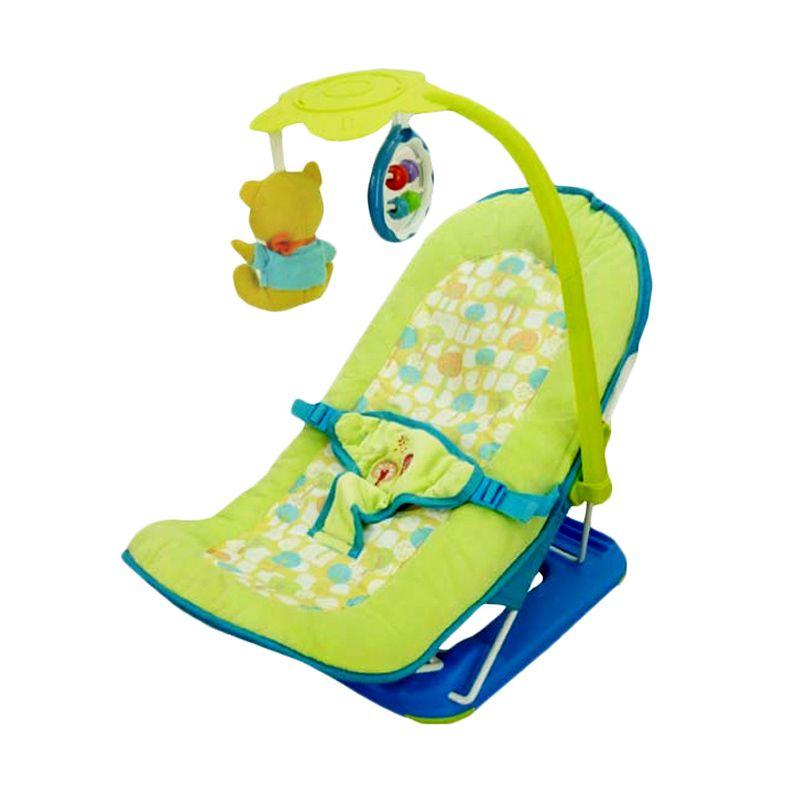 Baby Elle Fold Up Infant Seat Hijau Kursi Makan Bayi
