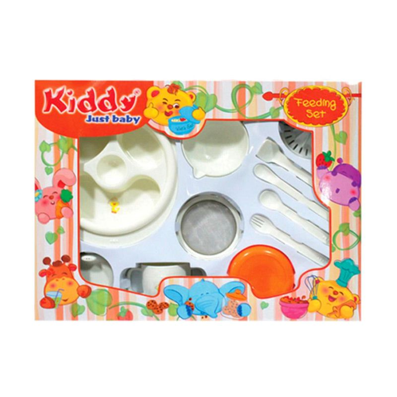 Kiddy Feeding Set Putih Alat Makan Bayi