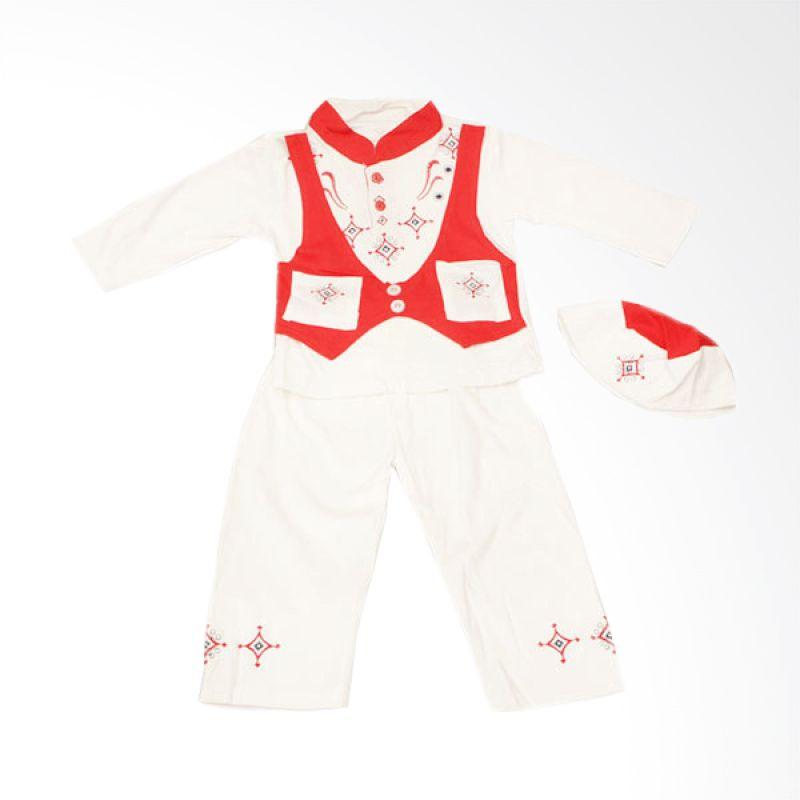 Adore Baju Koko Anak Putih & Rompi Merah - 24 Mos