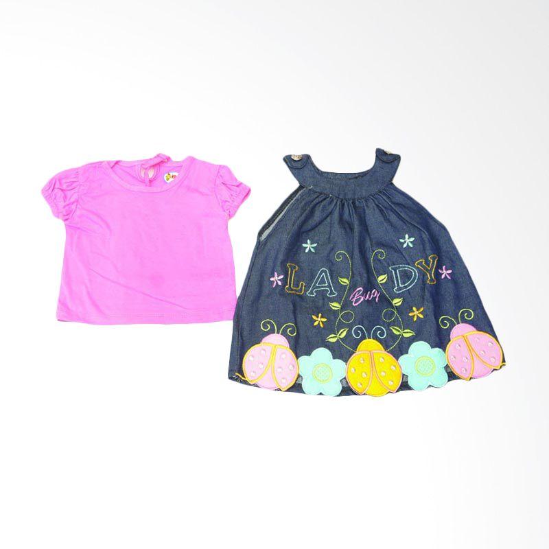 Adore Lady Bug Dress Bayi Pink