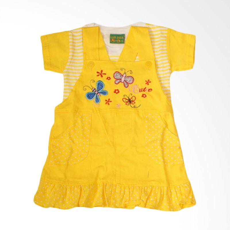 Adore Setelan Dress Kupu-Kupu Kuning