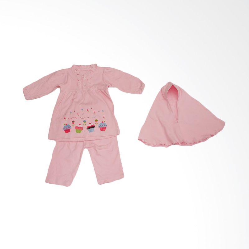 Adore Setelan Muslim Anak Cupcakes Pink
