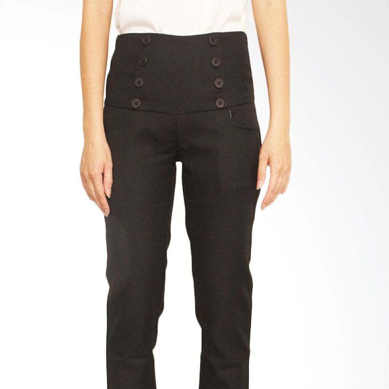Adore High Waist Hitam Celana Panjang Wanita