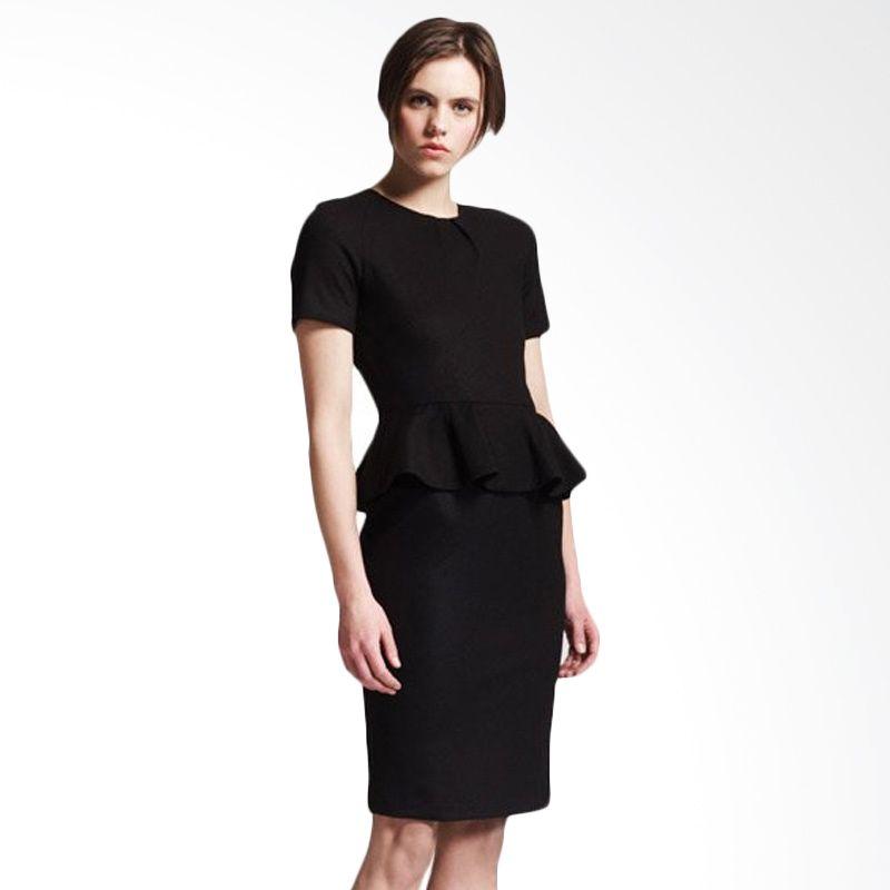 Adore Peplum Dress Black