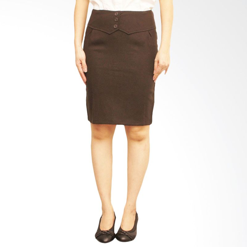 Adore Rok Kerja 3 Center Button Brown
