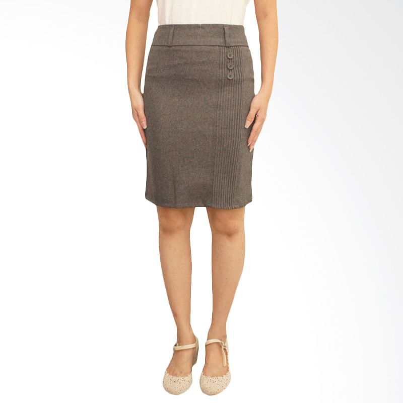 Adore Skirt 3-Button Grey