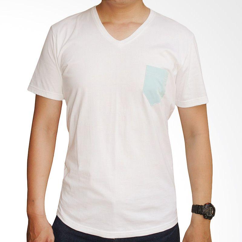 Adore V Neck Putih Kaos Oblong Pria