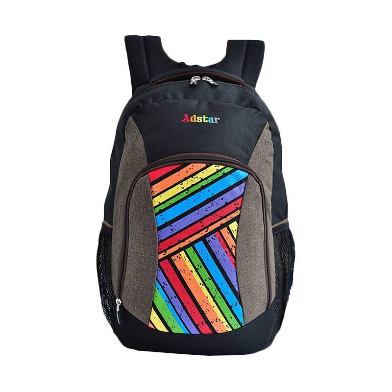 harga Adstar Backpack Sloping Strip Army Tas Ransel - Black Blibli.com