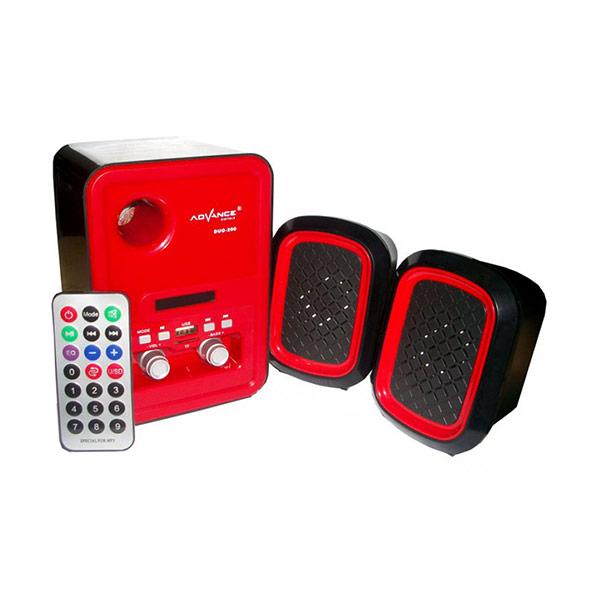 Advance DUO-200 Speaker Multimedia plus Remote - Merah