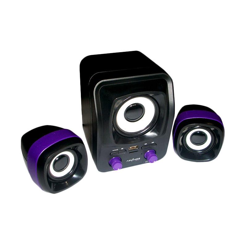 Advance Duo-300 Hitam Ungu Speaker USB