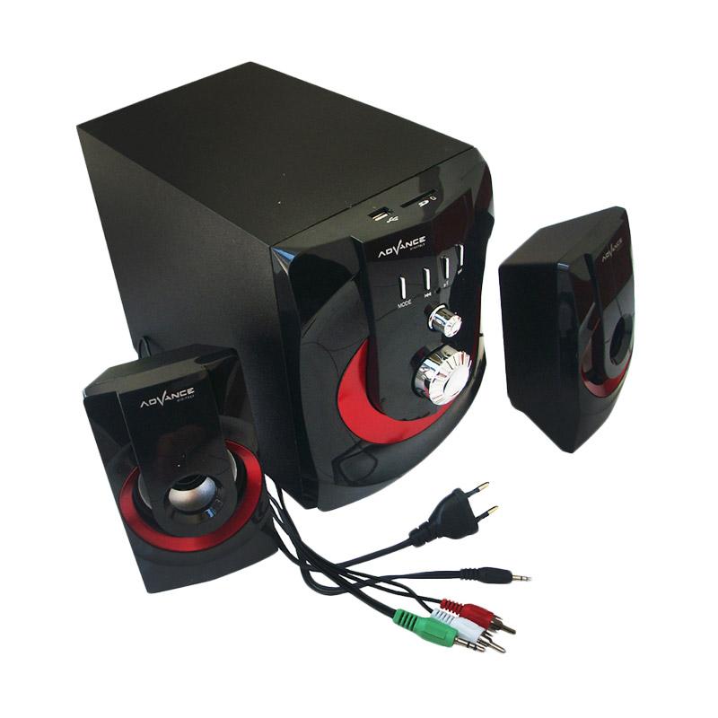 Advance M250BT Black and Red Bluetooth Speaker Subwoofer