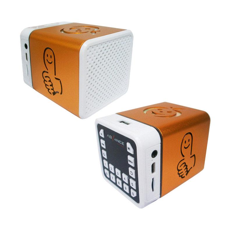 Advance R-1 Xtra Power Sound Mini Portable Speaker - Gold