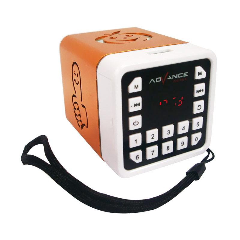 harga Advance R-1 Xtra Power Sound Mini Portable Speaker - Gold Blibli.com
