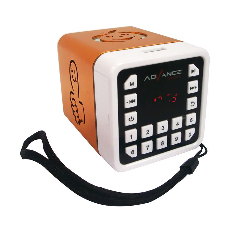 Advance R-1 Xtra Power Sound Mini Speaker Portable - Gold