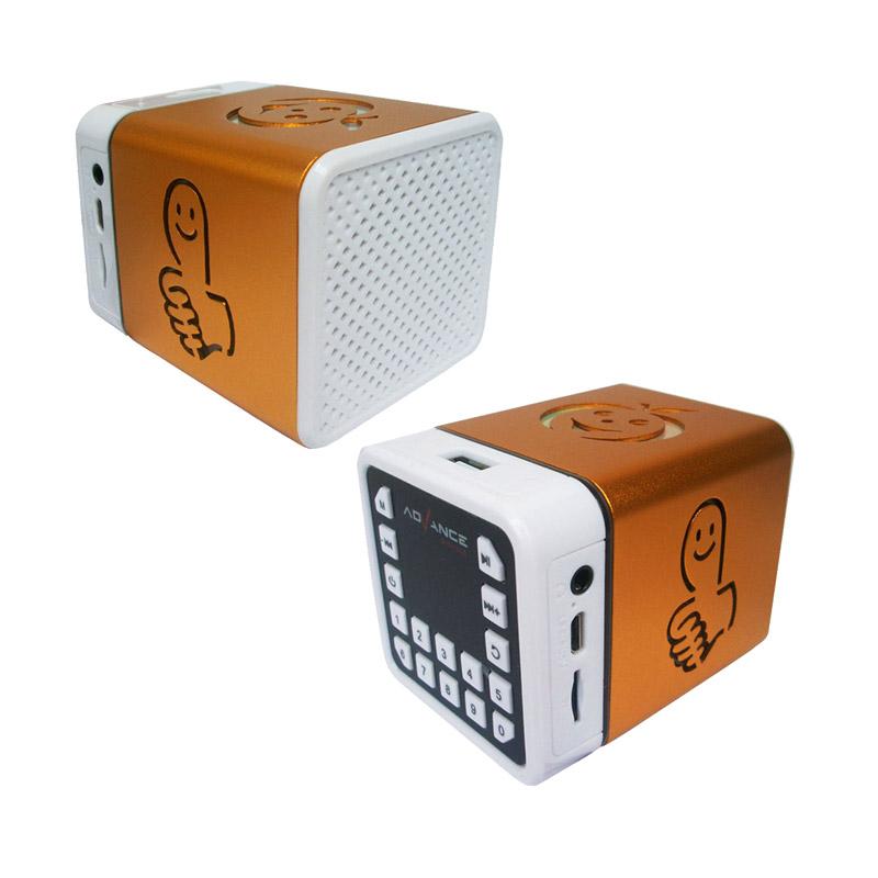 Jual Advance R-1 Xtra Power Sound Mini Speaker Portable - Gold Online - Harga & Kualitas Terjamin   Blibli.com
