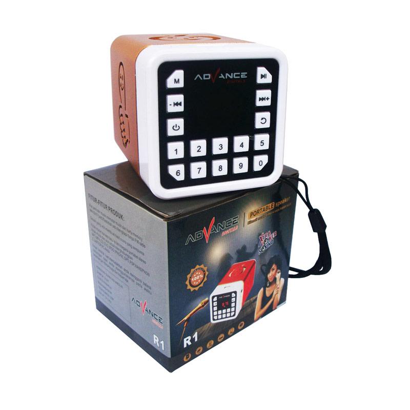 Rp 190,000. Rp 99,900 ( 47 %). Stok Tersedia. Deskripsi. Advance R-1 Xtra Power Sound Mini Speaker Portable - Gold. Fitur Produk