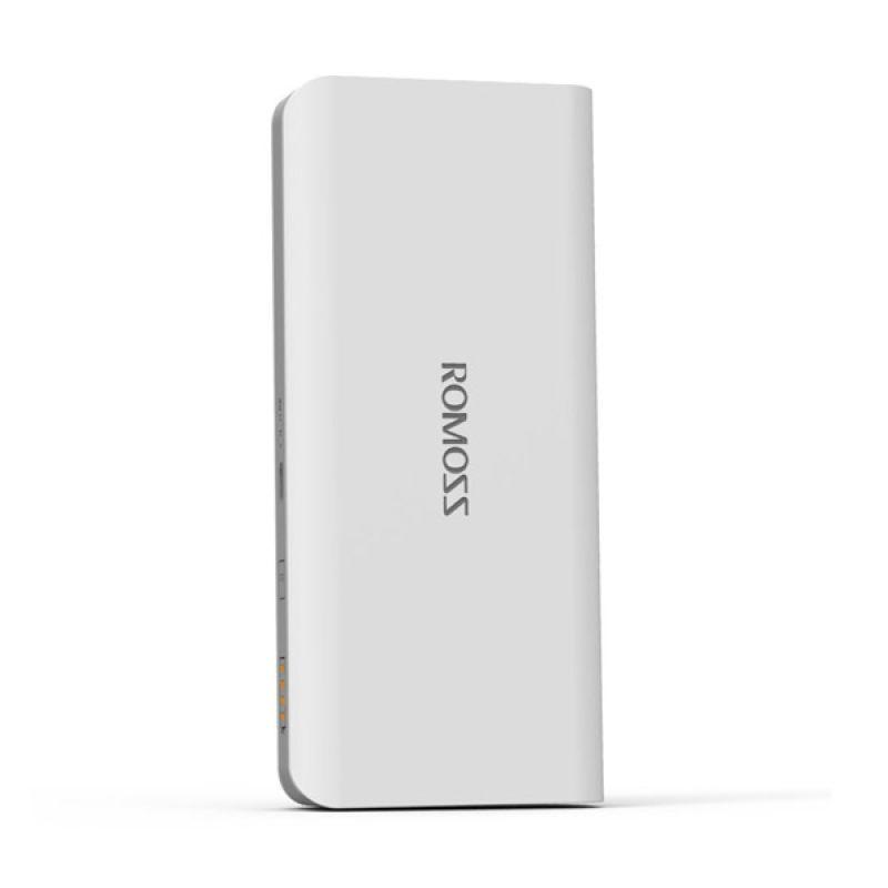 Romoss Original Solo 5 White Powerbank [10000 mAh / Garansi Resmi 12 Bulan]