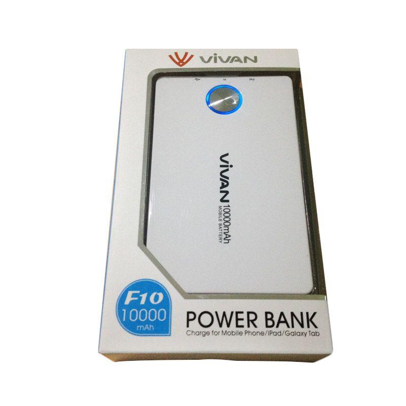 Vivan Original F10 Putih Powerbank [10000 mAh / Garansi Resmi 12 Bulan]