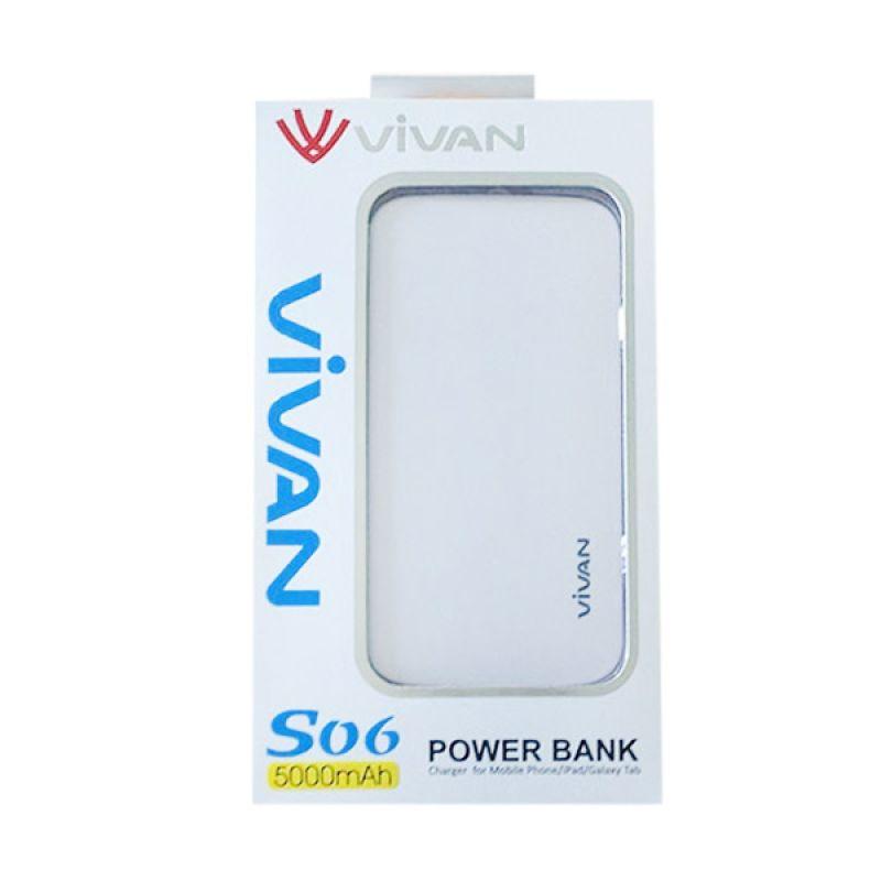 Vivan Original S06 White Powerbank [5000 mAh / Garansi Resmi 12 Bulan]
