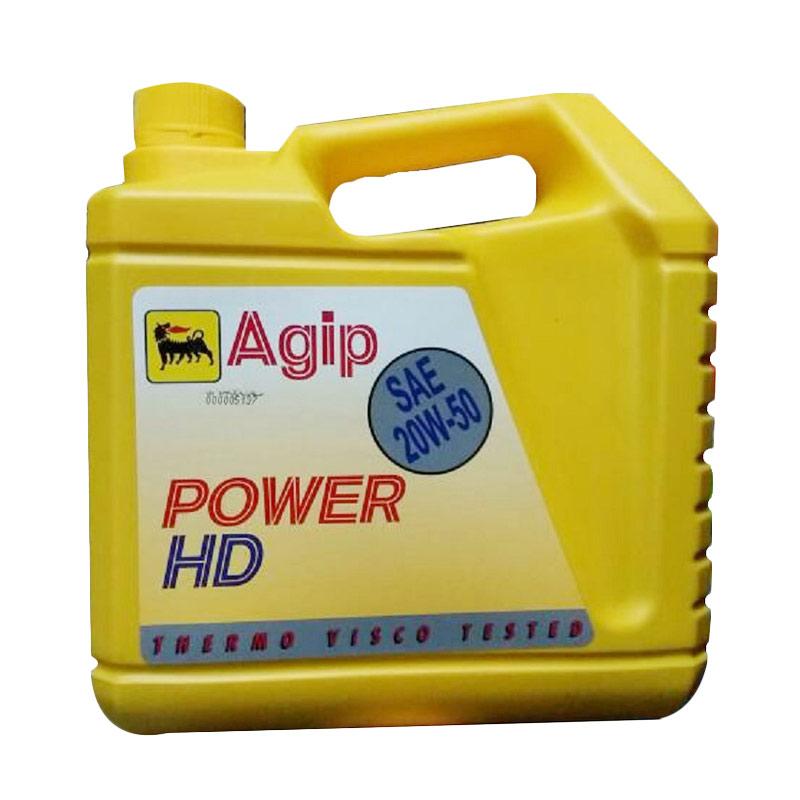 Jual Agip Power HD 20W 50 Oli Mobil Mesin Bensin 4 Liter