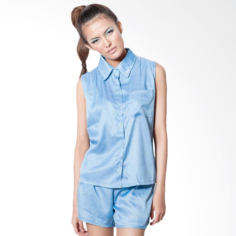 Agree To Shop Jane Dots Shirts Light Blue