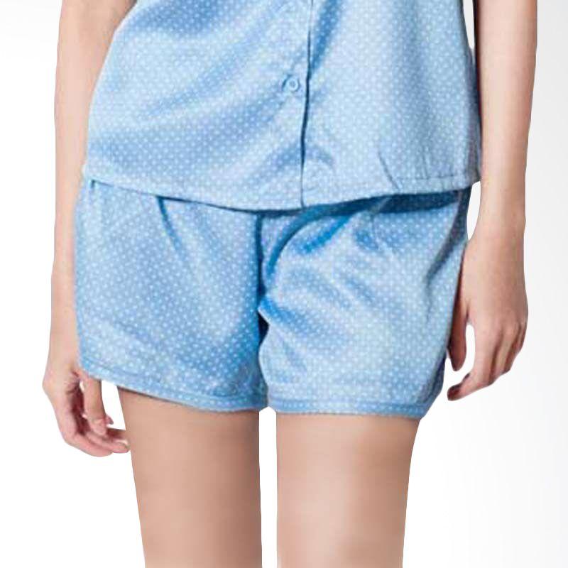Agree To Shop Jane Dots Shorts Light Blue