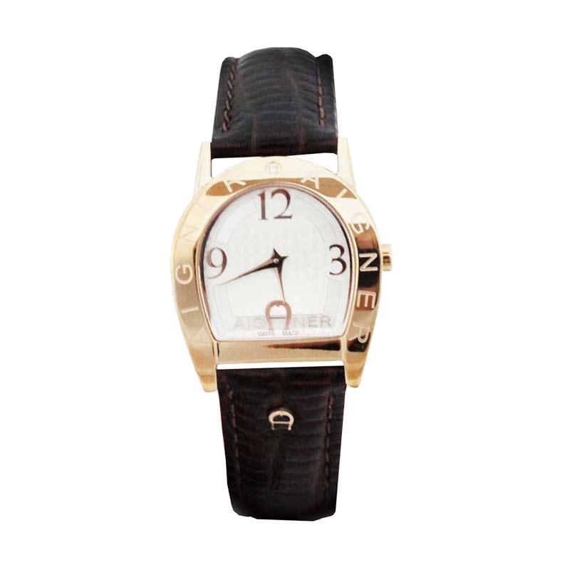 Aigner A32205 Brown Leather strap Jam Tangan Wanita