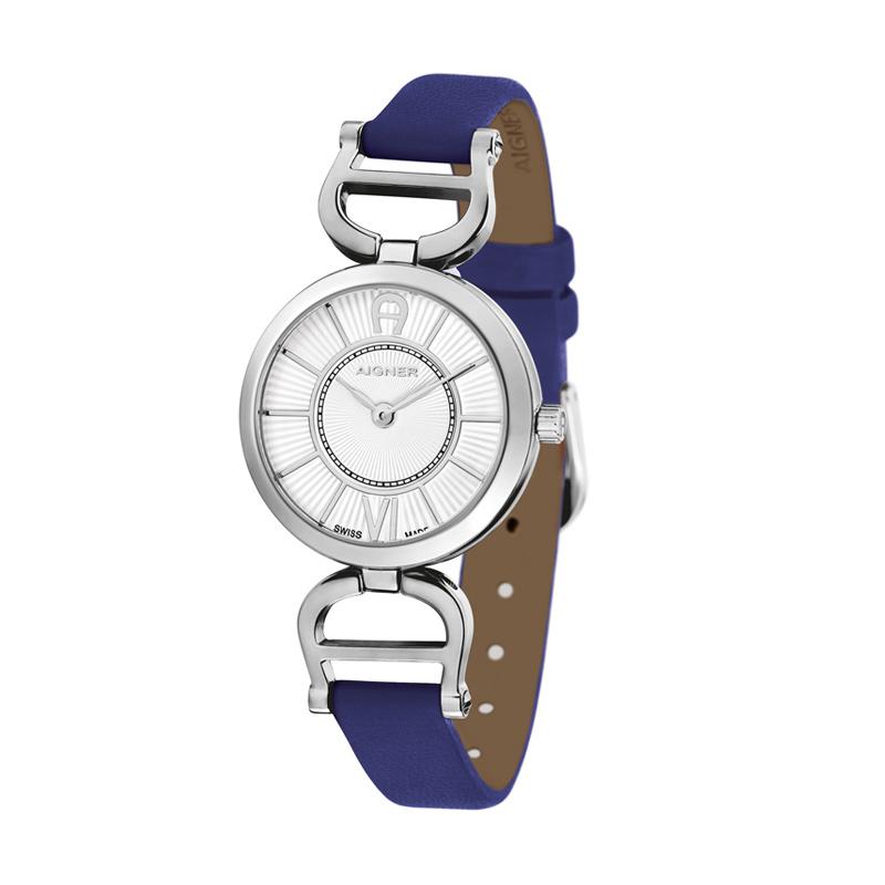 Aigner A24204A Blue Leather Women Watches Jam Tangan Wanita