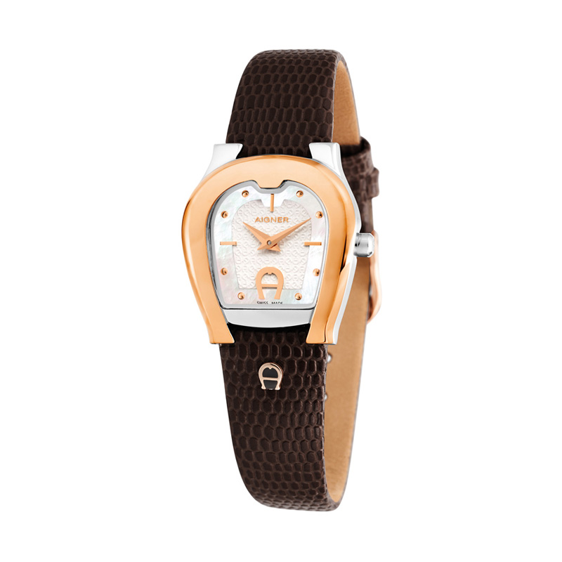 Aigner A24238A Brown Leather Women Watches Jam Tangan Wanita