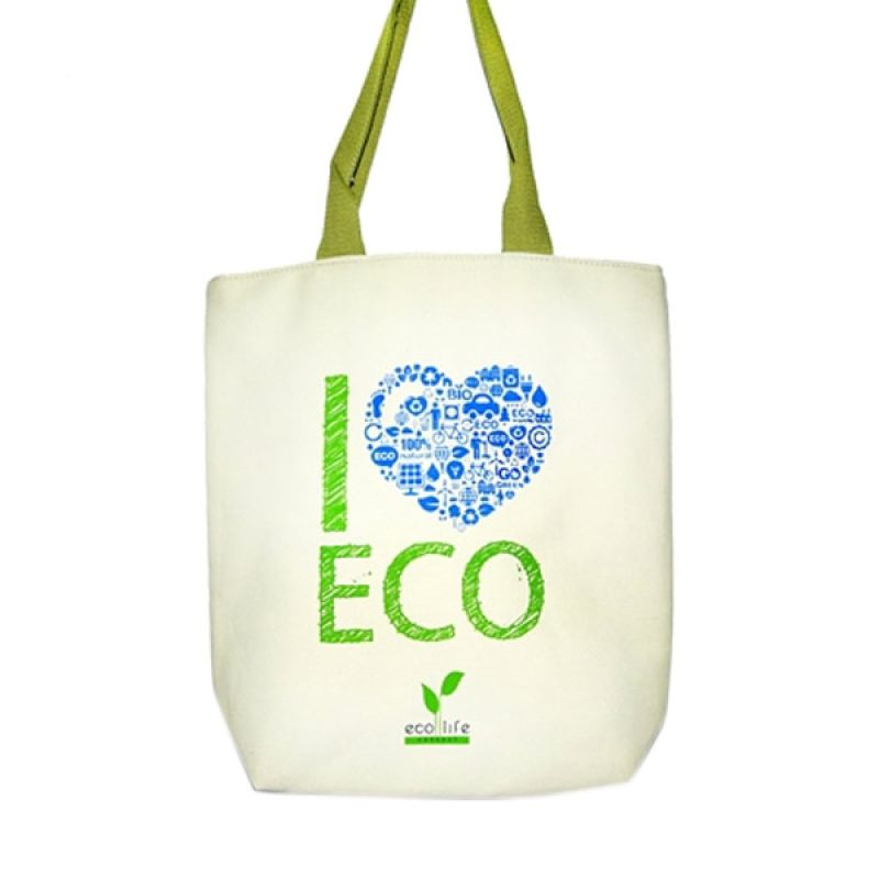 Aigness I love Eco Canvas Bag