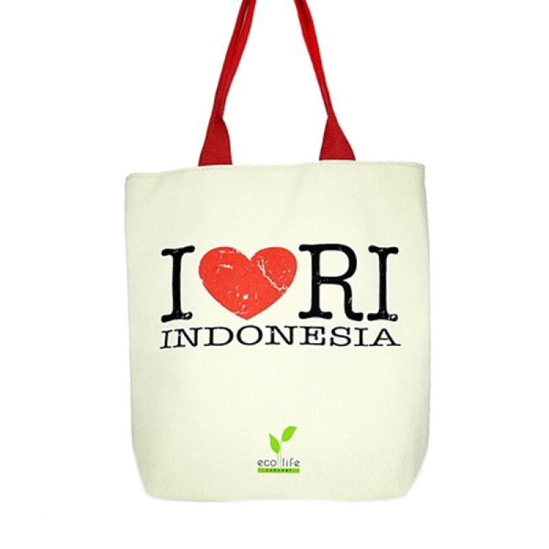 Aigness I love RI Canvas Bag