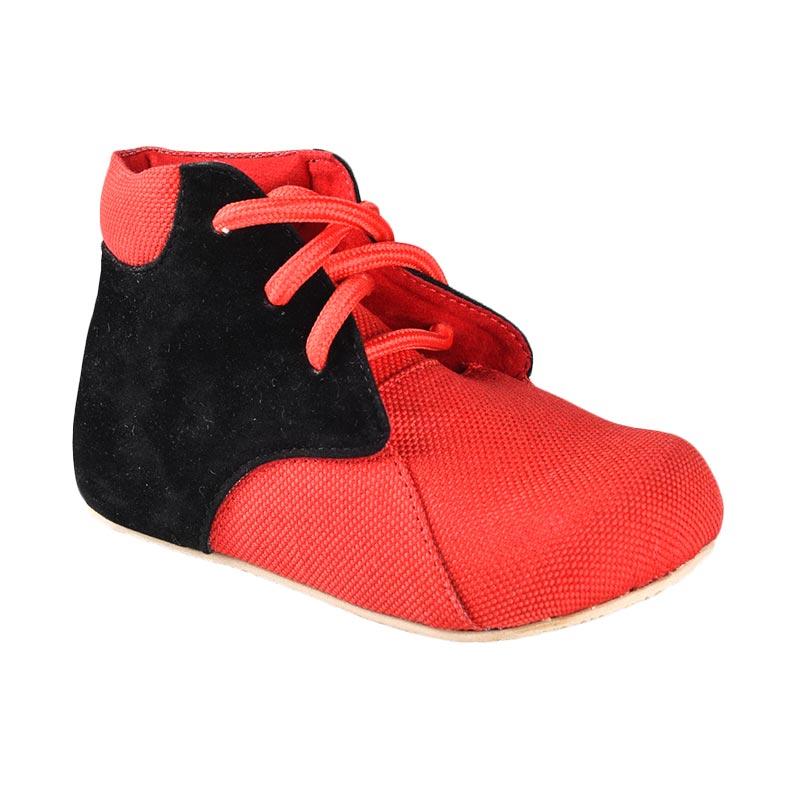 Aiko Sakura Shoes Haven Sepatu Anak Perempuan - Red Black
