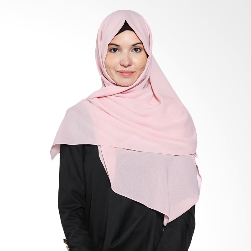 Aira Muslim Butik Diamond Italiano AB.P.028 Dusty Pink Grey Pashmina