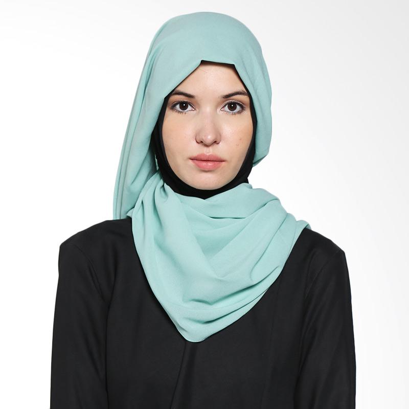 Aira Muslim Butik Diamond Italiano AB.P.028 Green Pashmina