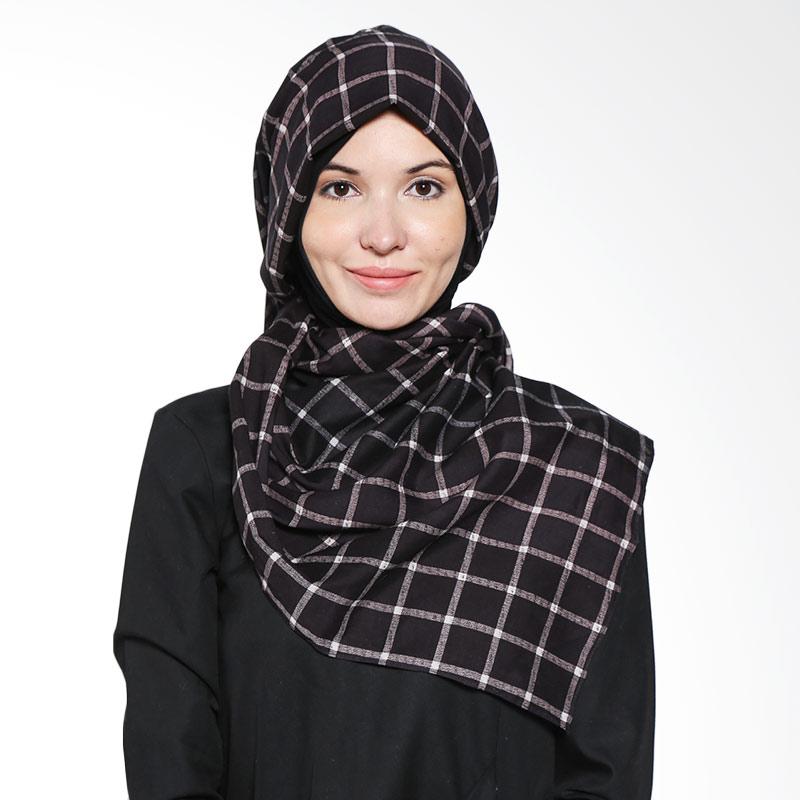 Aira Muslim Butik Inggrid AB.P.030 Blackish Brown Pashmina