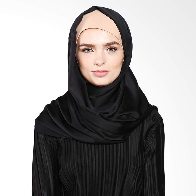 Aira Muslim Butik Kalila Pashmina AB.P-035 Hijab - Black