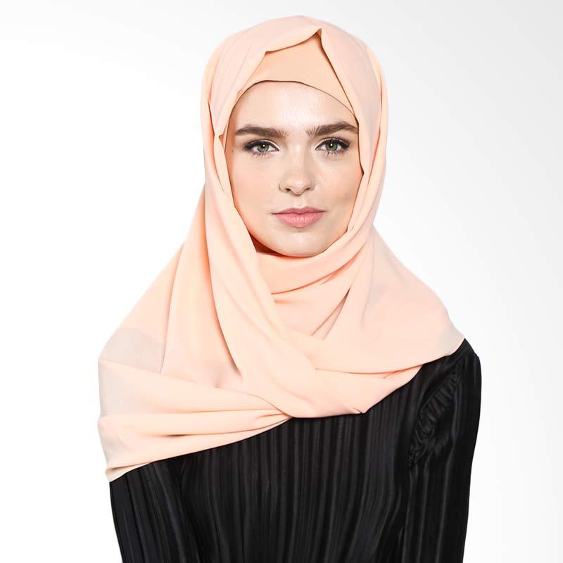 Aira Muslim Butik Pashmina Diamond Italiano AB.P.028 Hijab - Peach