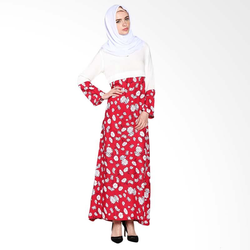 Aira Muslim Butik Veronica AB.D-005 Dress Muslim - Red