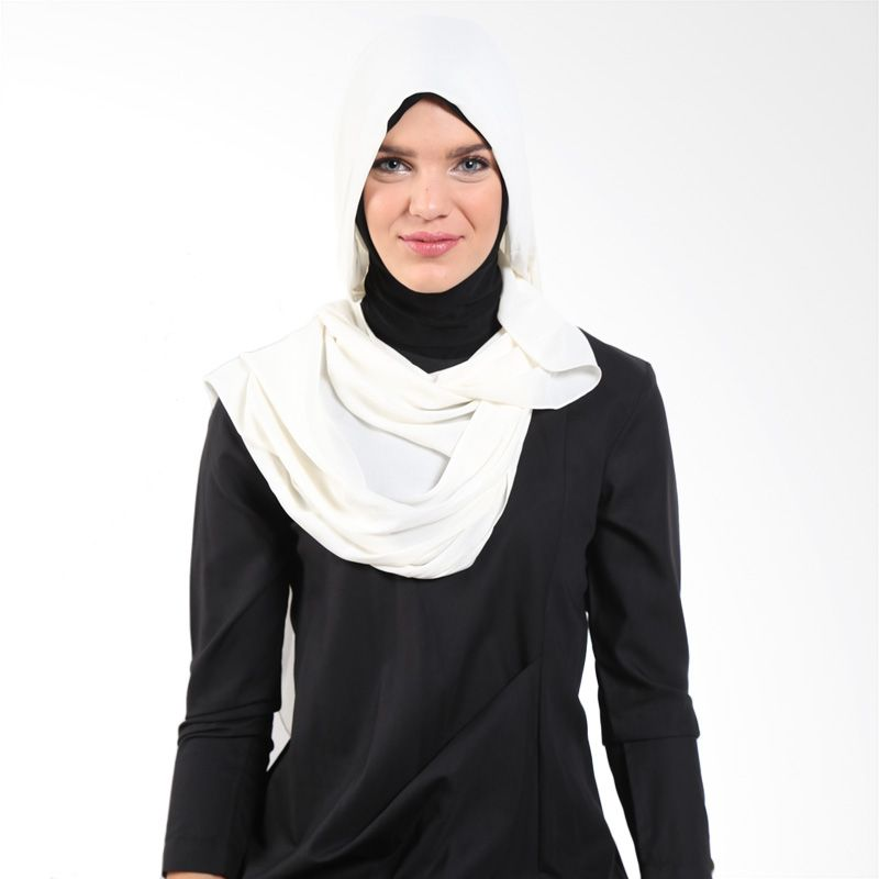 Aira Muslim Butik Zhaniar AB.P-022 Ivory Pashmina