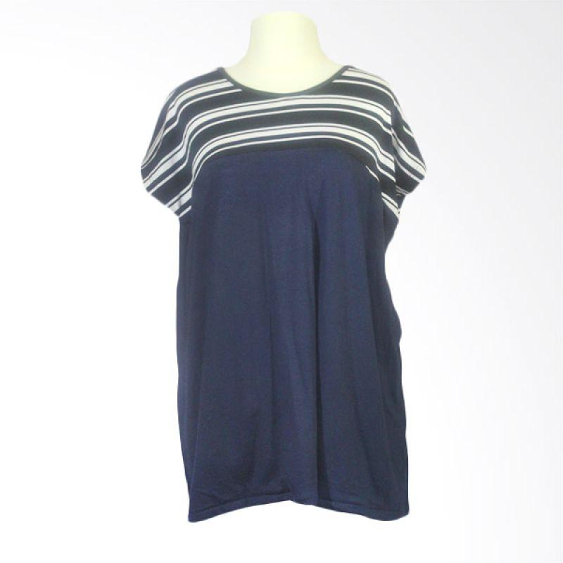 Berryblues Nursing Shirt BNS11 Navy Baju Menyusui