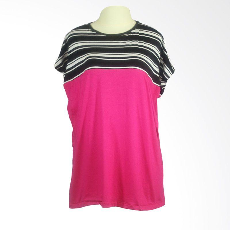Berryblues Nursing Shirt BNS11 Pink Baju Menyusui