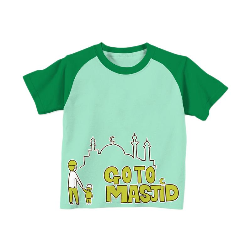 Aitana Kids AiK-16-001 Go To Masjid T-shirt Anak Laki Laki - Hijau Muda