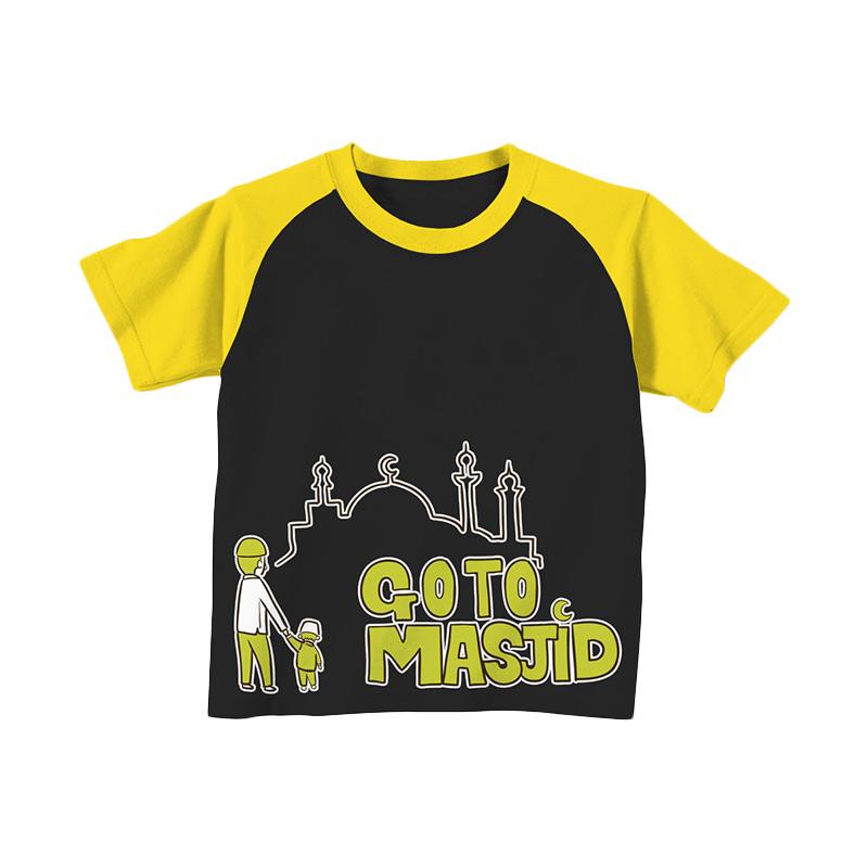 Aitana Kids AiK-16-001 Go To Masjid T-shirt Anak Laki Laki - Hitam