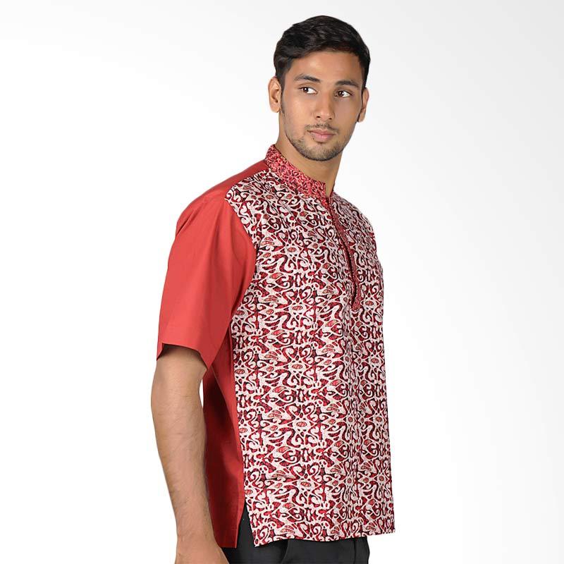 harga Aitana Koko Batik BTK-MG-14012-SS Baju Muslim Pria - Merah Blibli.com